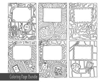 Mandala Binder Free Printable Coloring Pages Collection | 270x340