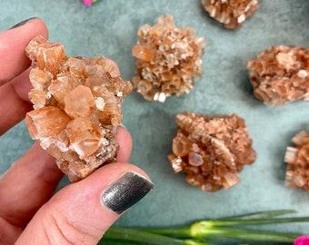 Aragonite Sputnik Cluster / Small Aragonite Sputnik Crystal / Aragonite Sputnik Specimen / Raw Aragonite Cluster / Space Rock