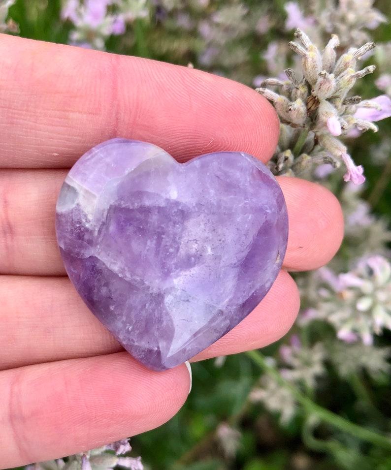 Amethyst Bracelet Tumbled Amethyst Stone and Amethyst Heart Gift Set  Relaxation Gift Set  Crystal Gift Bundle  Pamper Set