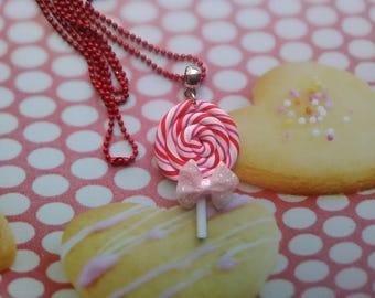 Lollipop lollipop polymer clay necklace