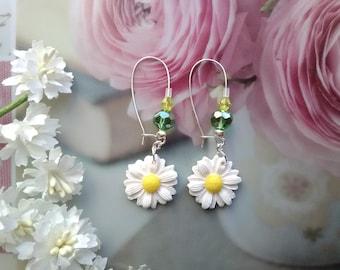 Flower polymer clay earrings / gift idea