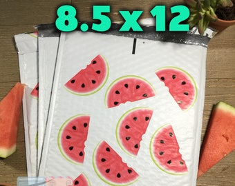 20 pcs Watermelon 8.5 x 12 Bubble Mailers | Self Sealing Shipping Envelopes|  Cute Padded Mailers | Watermelon Poly Mailers