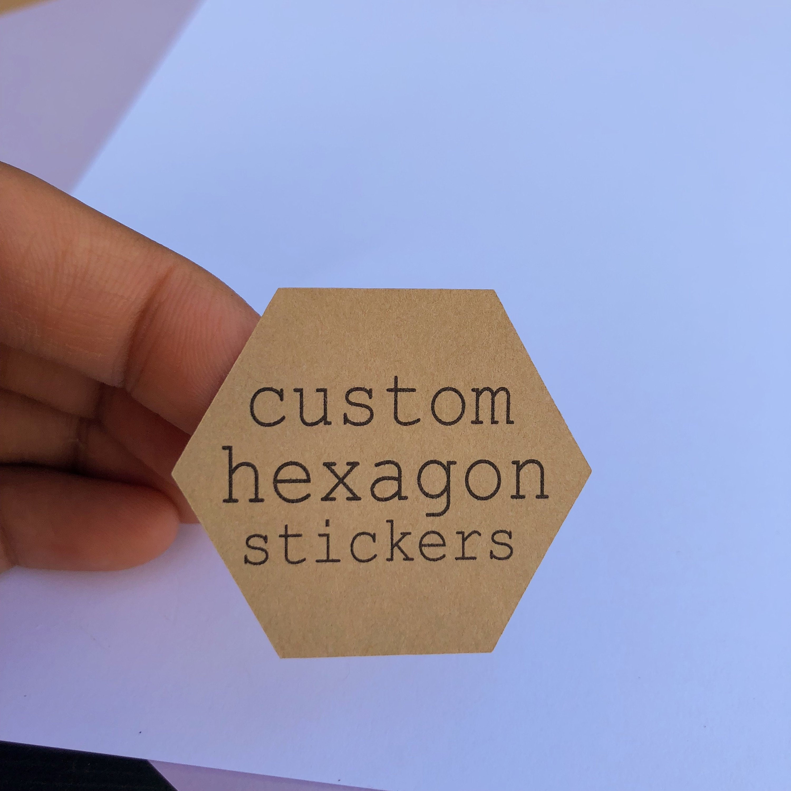 Custom hexagon stickers custom labels hexagon labels custom clear stickers custom stickers logo stickers from 0 75 to 4