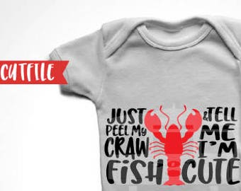 Crawfish Svg Cut File - Cray Fish Svg Cut File - Craw fish Boil Svg Cut File - Silhouette Cut File - Cricut Cut File - Seafood Boil Svg