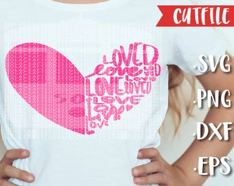 Valentines Day Svg Cut File - Love Svg Cut File - Heart Svg Cut File - Silhouette Cut File - Cricut Cut File - Small Business Use
