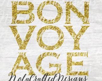 Bon Voyage Svg Etsy