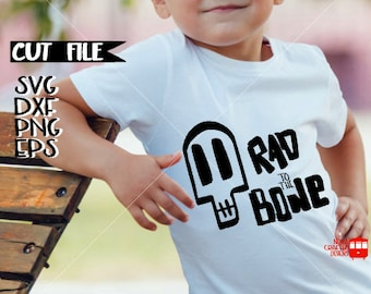Boys Halloween Svg Cut File - Skeleton Svg Cut File - Skull Svg Cut File - Rad to the Bone Svg Cut File - Hipster Svg Cut File - Trendy Svg