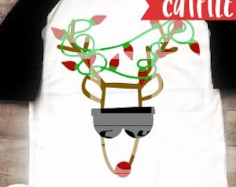 Rudolph Svg Cut File - Boy Christmas Svg Cut File - Reindeer Svg Cut File - Silhouette Cut File - Cricut Cut File - Holidays Svg Cut File