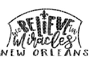 New Orleans Svg Cut File - Nola Svg Cut File - Louisiana Svg Cut File - Who Dat Svg - Football Svg - Superdome SVG - Silhouette File -