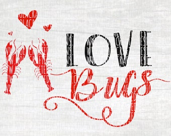 Crawfish Svg Cut File - Crawfish Boil Svg Cut File - Crawfish Valentines Svg Cut File - Valentines day Svg Cut File - Louisiana Svg Cut File