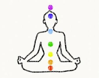 Chakra Svg Cut File - Meditation Svg Cut File - Baby Svg Cut File - Enlightened Svg Cut File - Conscious Svg Cut File - Ohm Svg Cut File