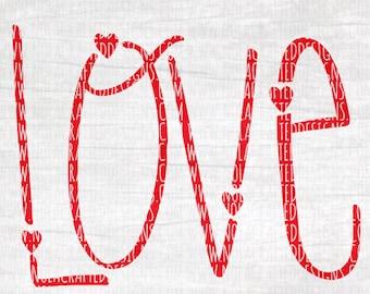 Love Svg Cut File - Heart Svg Cut File - Valentines Day Svg Cut File - Happy Valentines Day Svg Cut File -