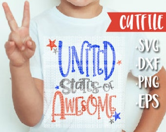 4th of July Svg File for Boy - Fourth of July Svg File - 4th of July Svg for Kids - My First fourth Svg Cut File - PNG - DXF - EPS