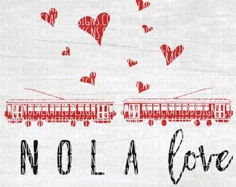 New Orleans Svg Cut File - Valentines Svg Cut File - Nola Svg Cut File - Mardi Gras Svg Cut File - Png - Louisiana Svg Cut File