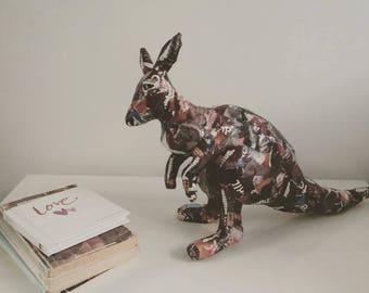 paper mache animal etsy
