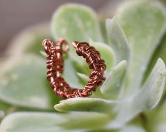 Copper Adjustable Ear Cuff