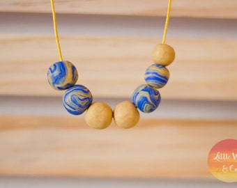 Handmade Polymer Necklace - Isadora