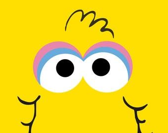 Sesame Street - Big Bird Poster - Birthday Decoration - Room Decor - Kids and Fun Sesame Street Characters