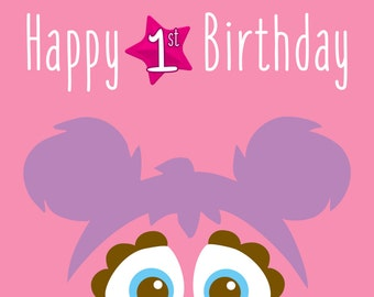 Sesame Street - Abby Cadabby Poster - Birthday Decoration - Room Decor - Party for Kids and Fun Sesame Street Characters