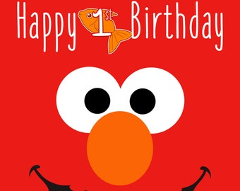 Sesame Street - Elmo Poster - Birthday Decoration - Room Decor - Party for Kids and Fun Sesame Street Characters