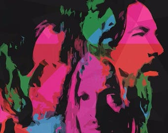 Foo Fighters Poster - Wasting Light - Custom Band Posters - Dave Grohl - Taylor Hawkins - Nirvana - American Rock - Gift Alternative
