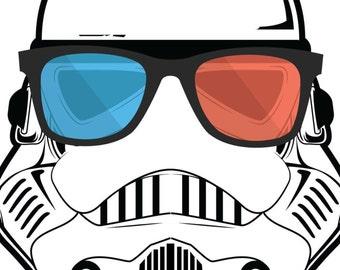 Stormtrooper Poster - I Hate My Boss - Star Wars Alternative Poster - Pop Art Colorful Poster Art - Fiction Sci-fi Movie - buckethead, Darth