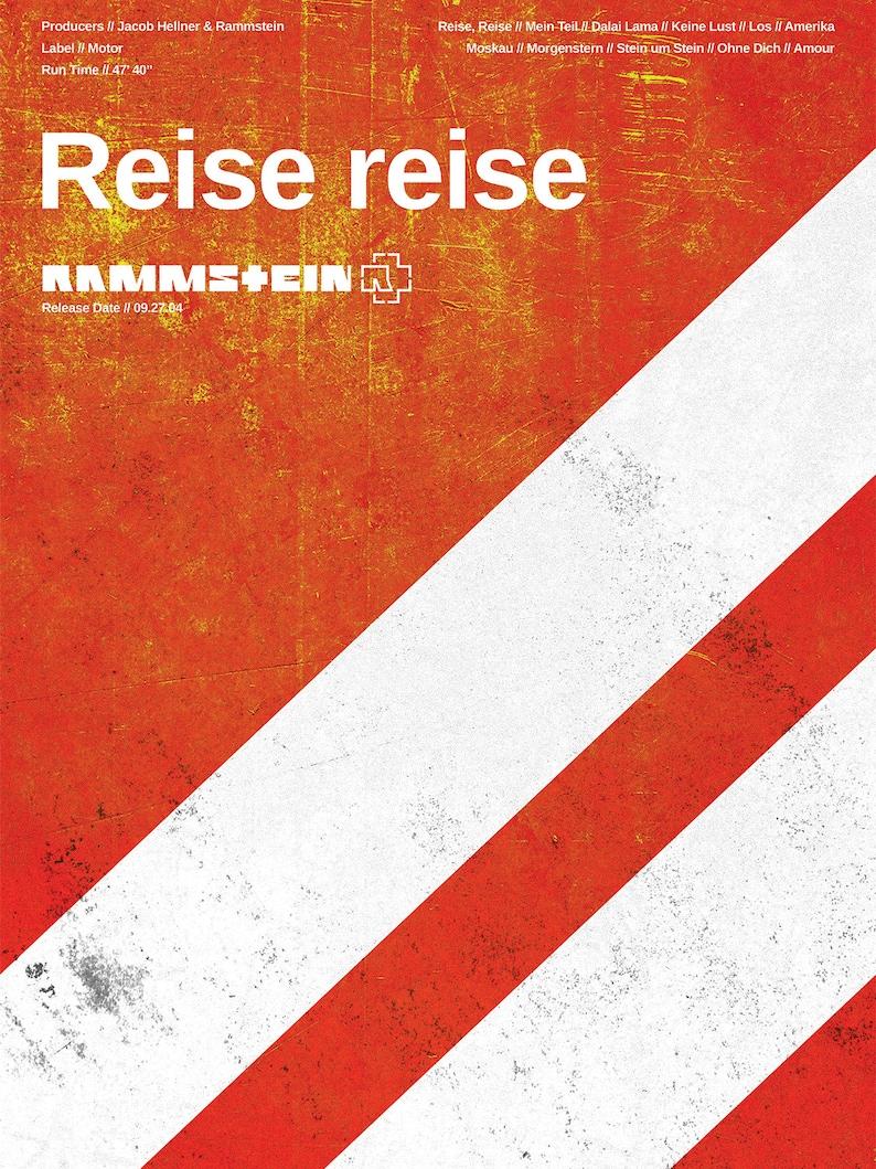 Rammstein Poster - Reise reise - Custom Band Posters - German Neue Deutsche  Härte band - Till Lindemann, Richard Z  Kruspe, Rock Poster Gift