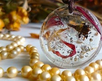 "SALE ON - Flower fairy garden handmade pendants "" Moments of Clarity """