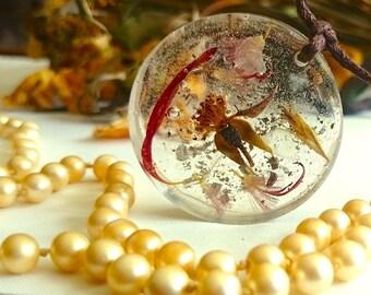 "SALE ON - Flower fairy garden handmade pendants "" Memories in the Making """
