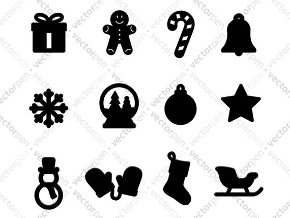 Chrismas And Winter Icons Svg Icon Pack Holiday Clip Art For Etsy
