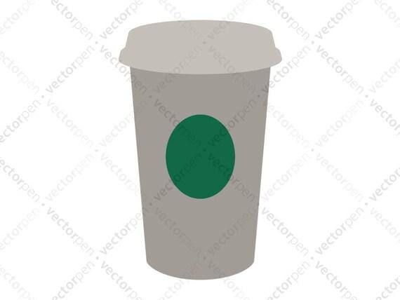 Starbucks Coffee Cup SVG Scrapbooking And Cricut Clip Art