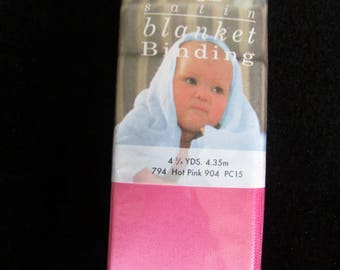 Satin Hot Pink Blanket Binding