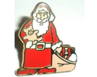 Man United Santa Pin Badge Red Santa In Lockdown