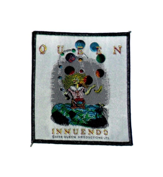 QUEEN 'INNUENDO' sew on woven patch, licensed.  M… - image 1