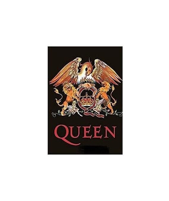 QUEEN flag -crest: Textile Licensed Poster Flagsi… - image 1
