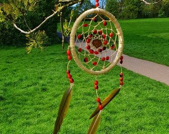 Ayahuasca Dreamcatcher with Rainforest Seeds | Medium | Variations Available