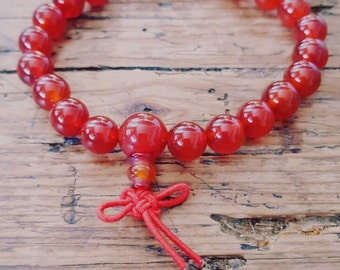 Carnelian Sacral Chakra Power Bracelet | Root Chakra | Creativity | | Memory | Harmony | Courage | Happiness | Self-esteem | | Past life