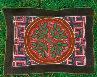 Small Rectangle Red Aya tapestry 30x30cm   Ceremony Mesa   Ayahuasca Ceremony   Protection   Altar Cloth