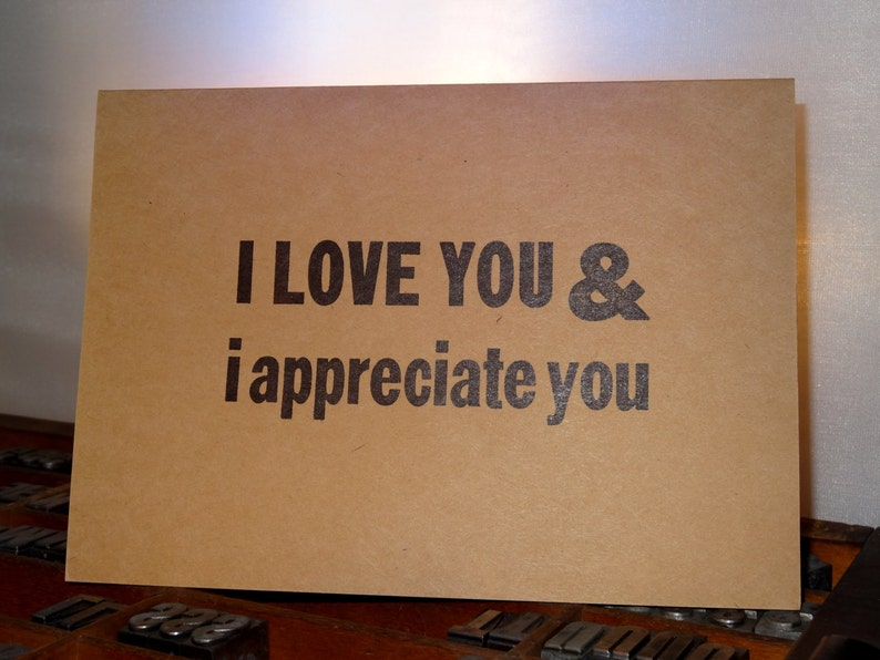 i appreciate and love you