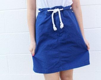 Ralph Lauren Polo Cobalt Blue Drawstring Mini Skirt