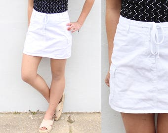 White Drawstring Skirt