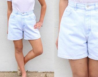 Lee Medium Wash Blue Denim Shorts High Waist Jean Shorts