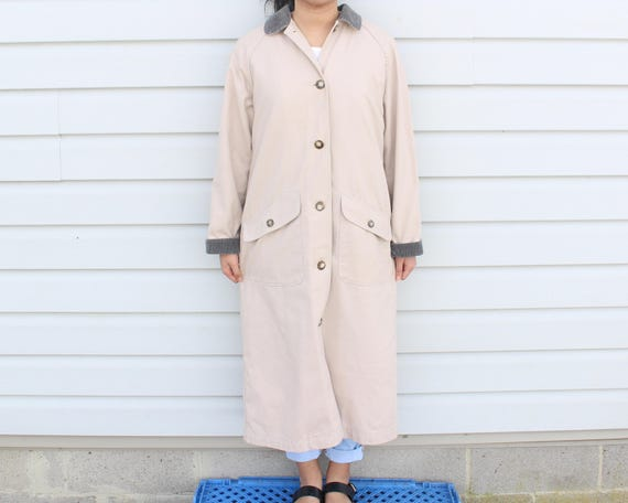 Dusty Pink Longline Trench Coat - image 4