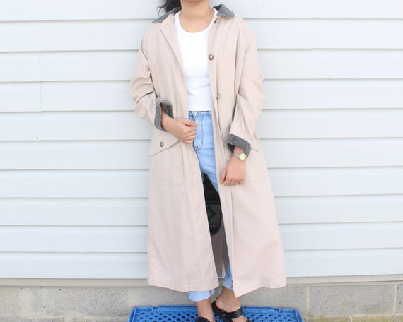 Dusty Pink Longline Trench Coat - image 5