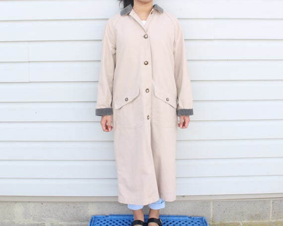 Dusty Pink Longline Trench Coat - image 3