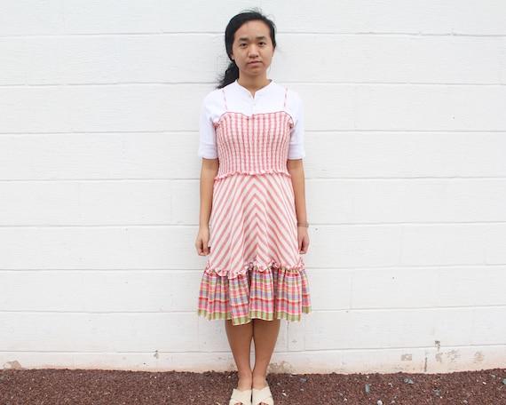 Frill Peasant Dress Gunne Sax Prairie Dress - image 5