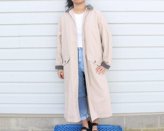 Dusty Pink Longline Trench Coat - image 2