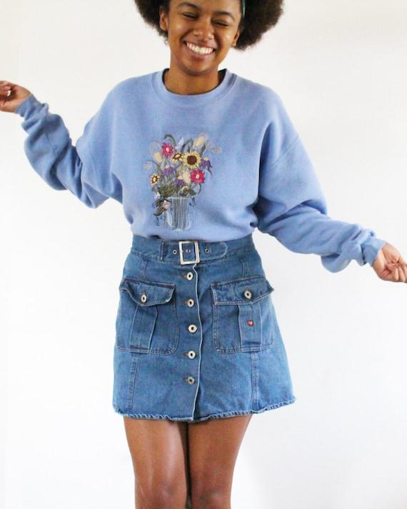 SALE Vintage High Waisted Denim Skirt Jean Skirt … - image 4
