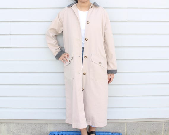 Dusty Pink Longline Trench Coat - image 6