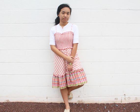 Frill Peasant Dress Gunne Sax Prairie Dress - image 2